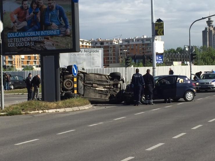 Lančani sudar na Novom Beogradu
