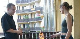Przez grilla na balkonie możesz stracić mieszkanie
