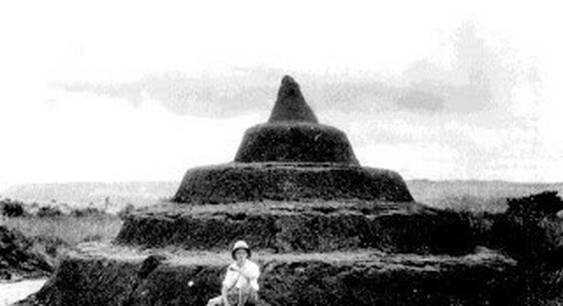 The Igbo Pyramids taken by British anthropologist and colonial administrator, G. I. Jones