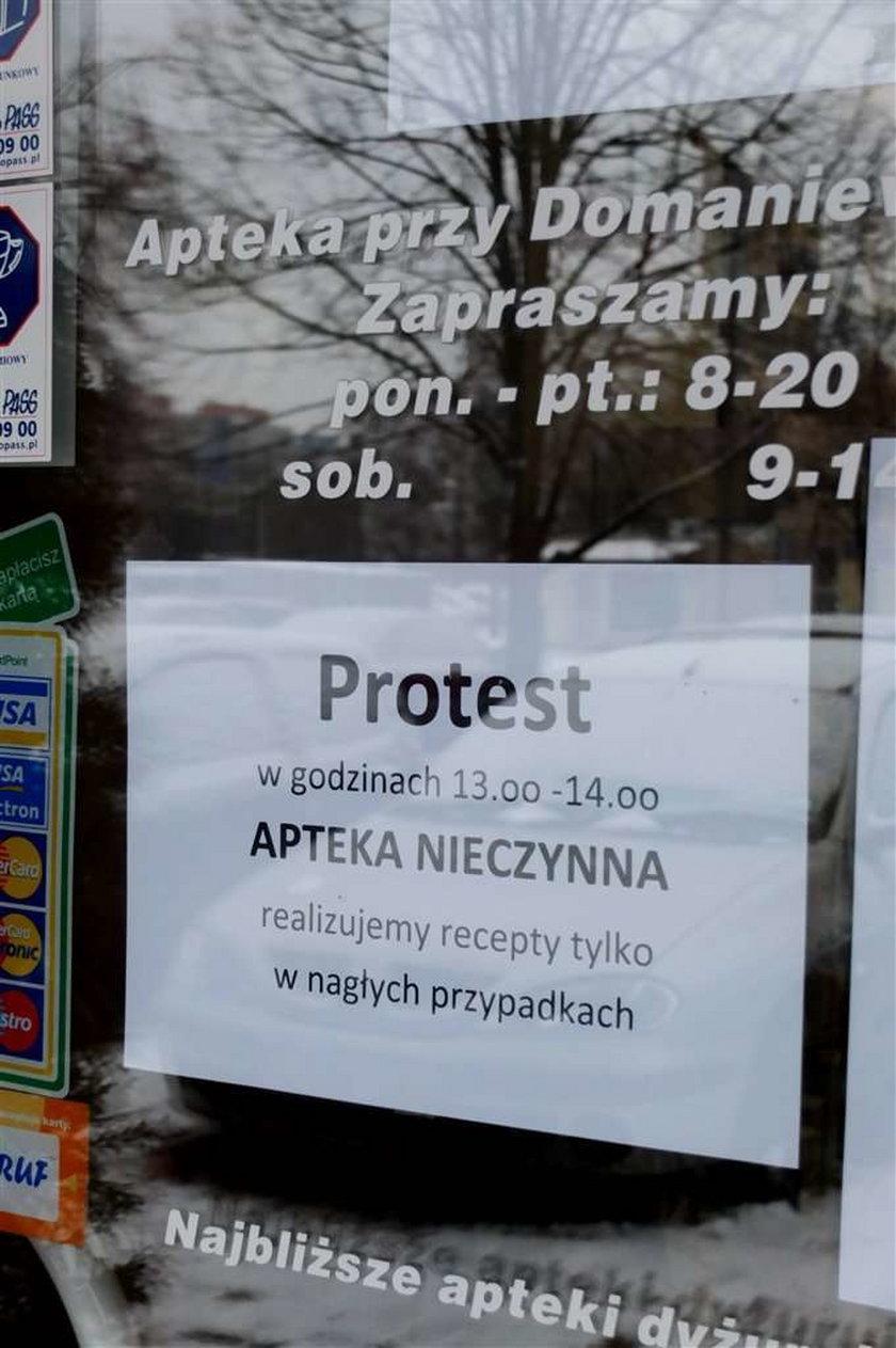 Zaczęło się: Aptekarze protestują, apteki zamknięte