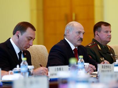 Prezydent Białorusi - Alaksandr Łukaszenka - z wizytą w Chinach