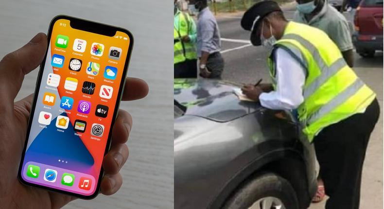 Ghana police officer takes bribe from driver, forgets iPhone 12 pro max inside his car