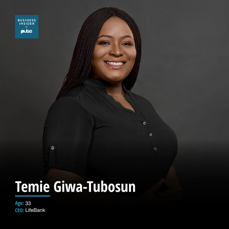 Temie Giwa-Tubosun is the founder of Lifebank