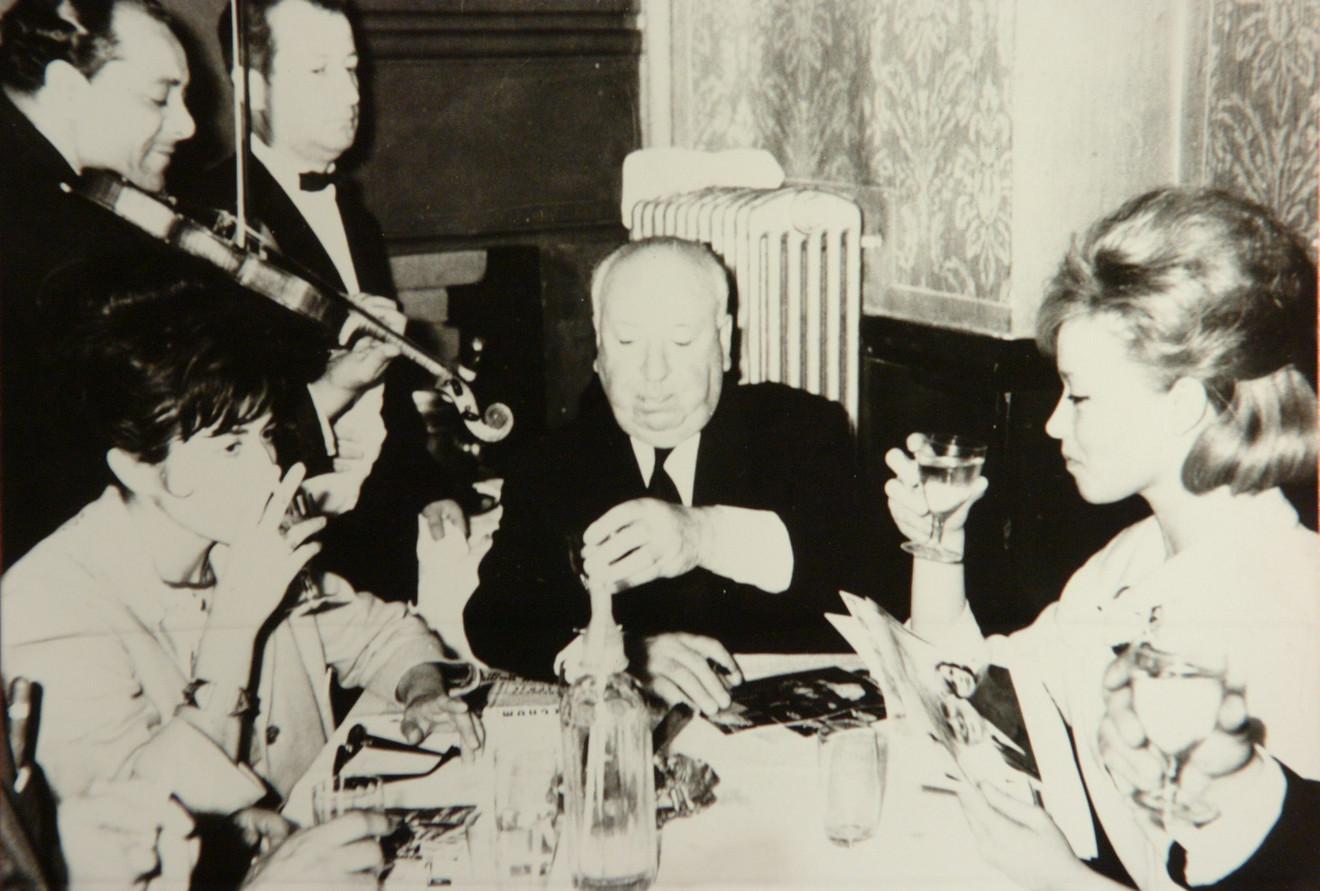 Milena Dravić sa Alfredom Hičkokom