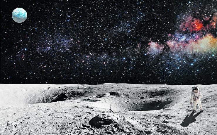 mesec astronaut-on-lunar-moon-landing-450w-355250210