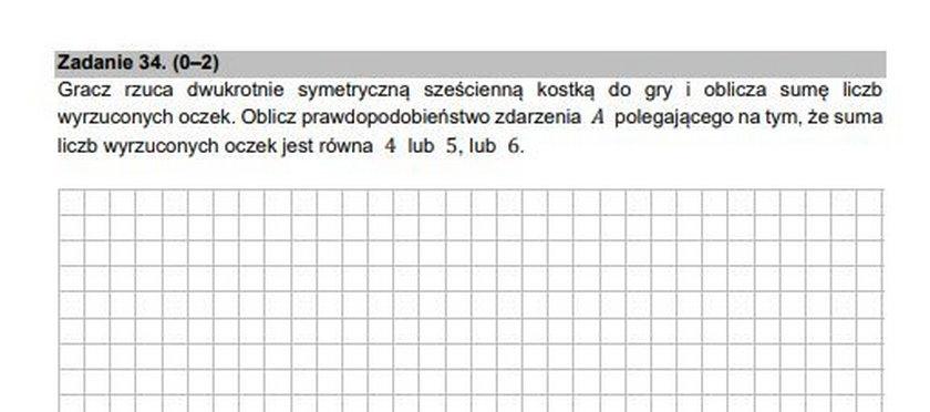 Arkusze egzaminacyjne z matematyki