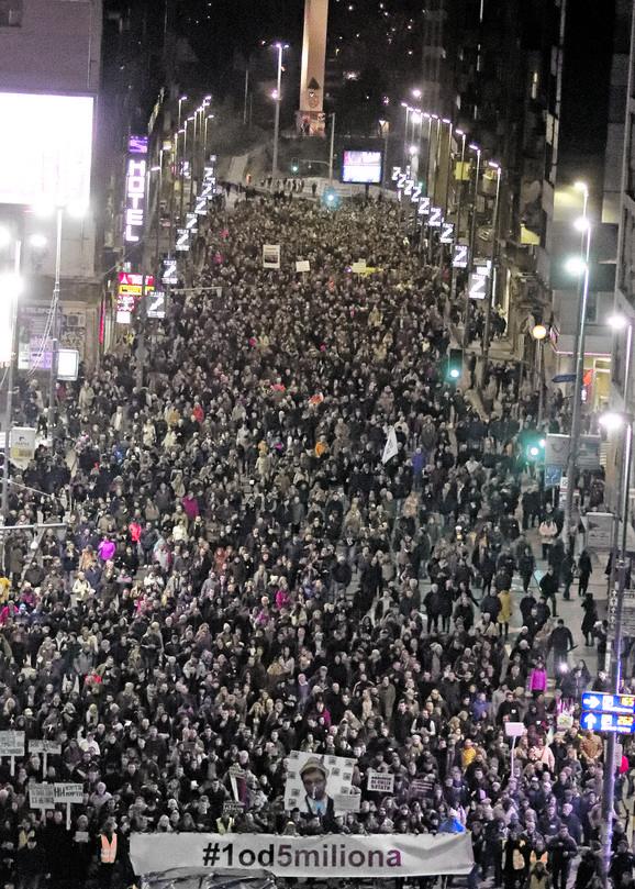 Protest započeo nakon napada na Borka Stefanovića