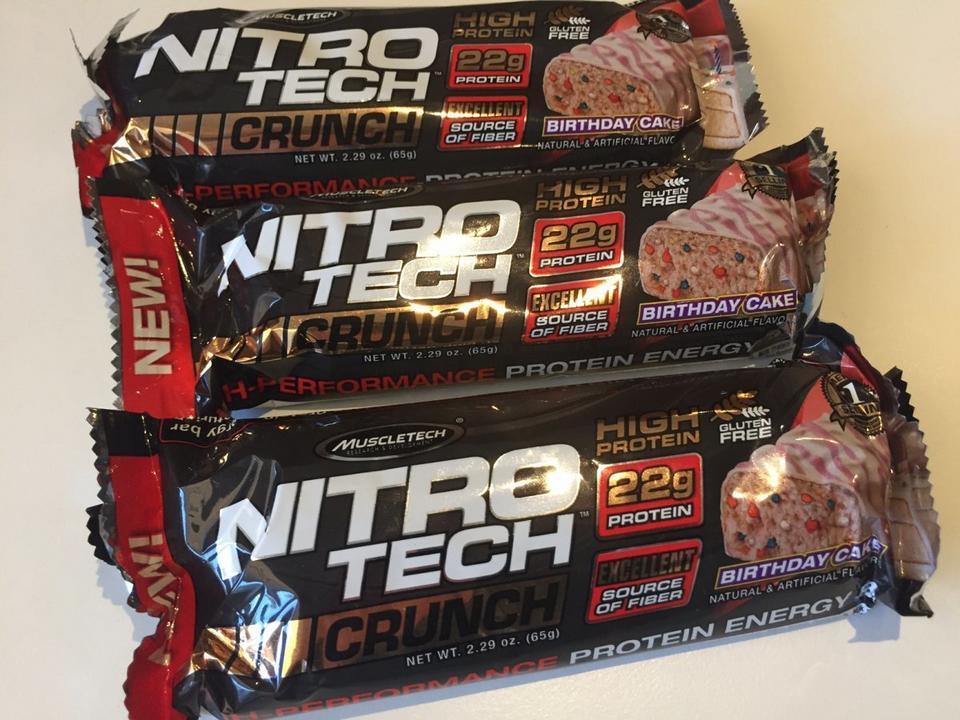 ...a tym, które ćwiczą, batony Nitro-Tech dostarczą białka.