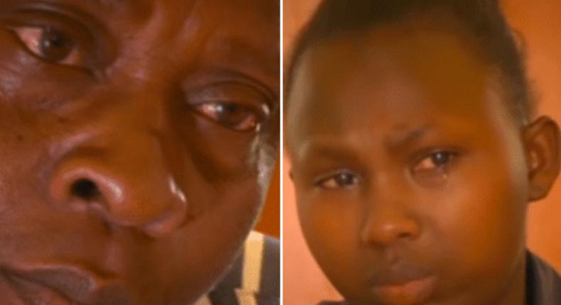 Julius Musyoki Wambua framed by daughter and mother of defilement