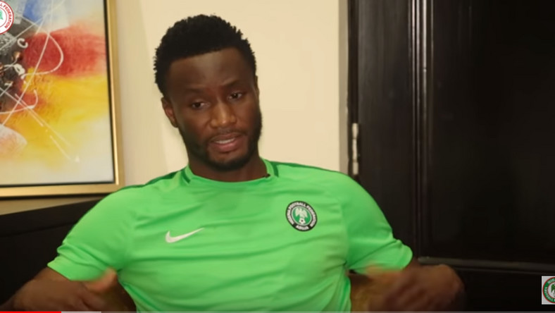 Mikel John Obi gave an interview which on the Super Eagles Youtube page.  (Youtube/Nigeria Super Eagles)