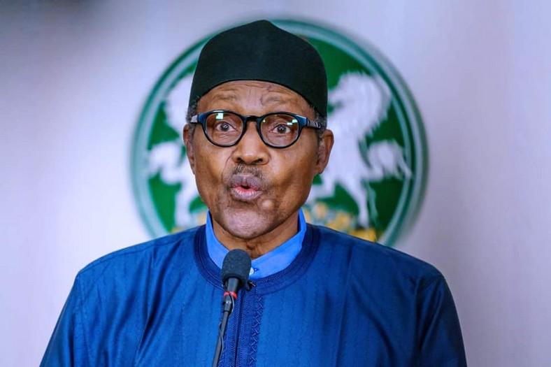 President Muhammadu Buhari announced his support for Victor Giadom on Wednesday, June 24, 2020. [Presidency]