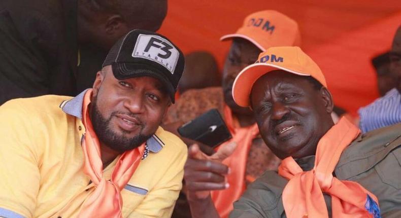 Governor Hassan Joho and ODM leader Raila Odinga