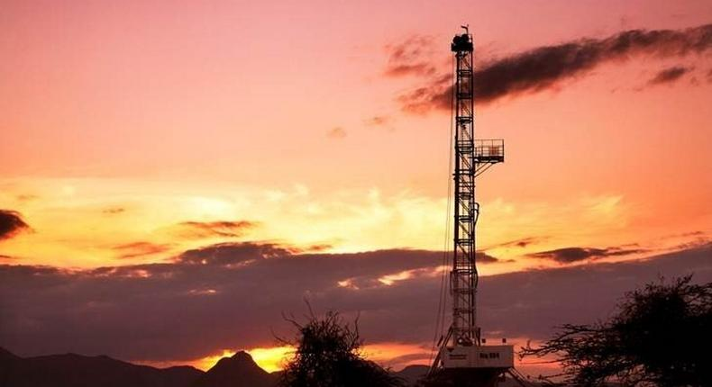 An oil rig used in drilling at the Ngamia-1 well on Block 10BB, in the Lokichar basin, which is part of the East African Rift System, is seen in Turkana County, in this undated handout photograph. Kenya announced on March 26, 2012, its first oil discovery, saying it was found in the northern part of the country where Africa-focused British firm Tullow Oil Plc has been exploring for oil, and was now checking on the commercial viability of the find. REUTERS/Tullow Oil plc/Handout