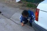 NIS02 maloletnik vezuje psa za automobil foto Facebook Privatna arhiva