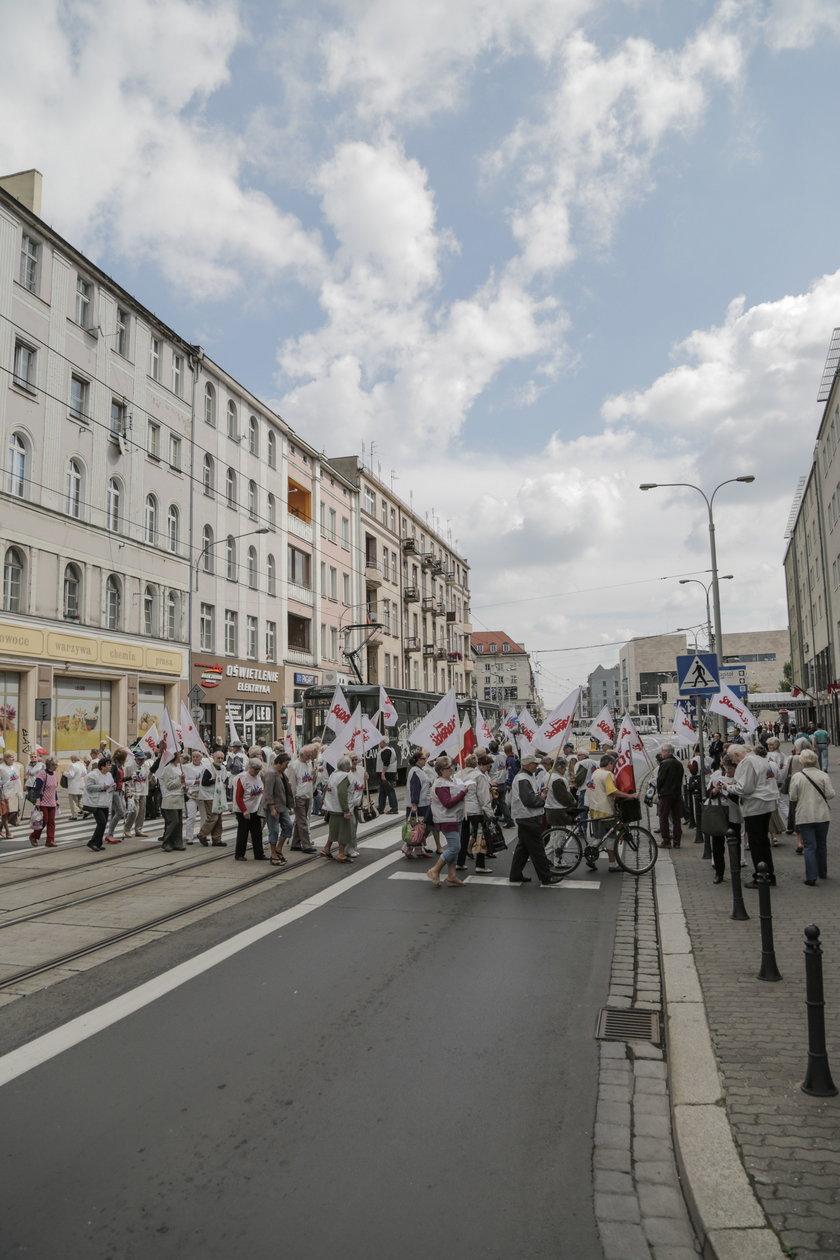 Protest emerytów we Wrocławiu