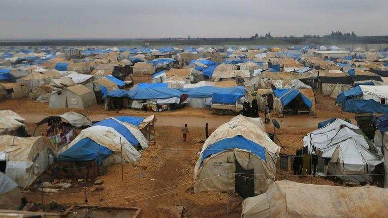 Obóz syryjskich imigrantów