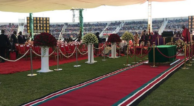 In Photos: Thousands of Kenyans converge at Nyayo Stadium for Moi's Memorial Service
