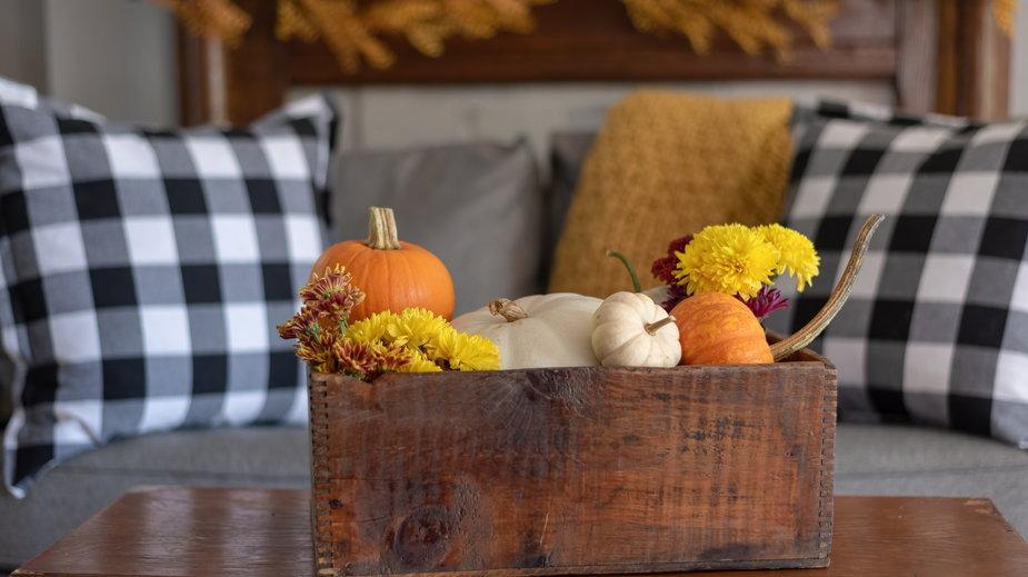Jesienny wystrój mieszkania