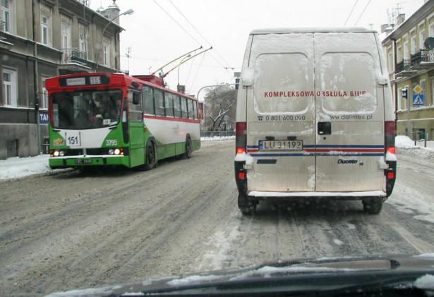Trolejbus na ulicach Lublina.
