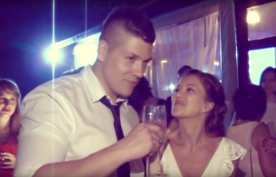 Sloba Radanović i Kristina Kockar na svojoj svadbi