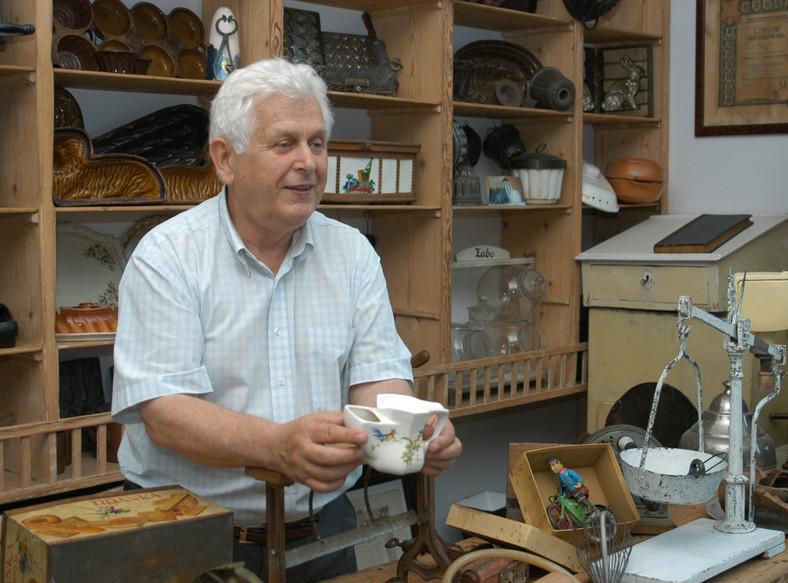 Piotr Mankiewicz, twórca i właściciel oryginalnego muzeum