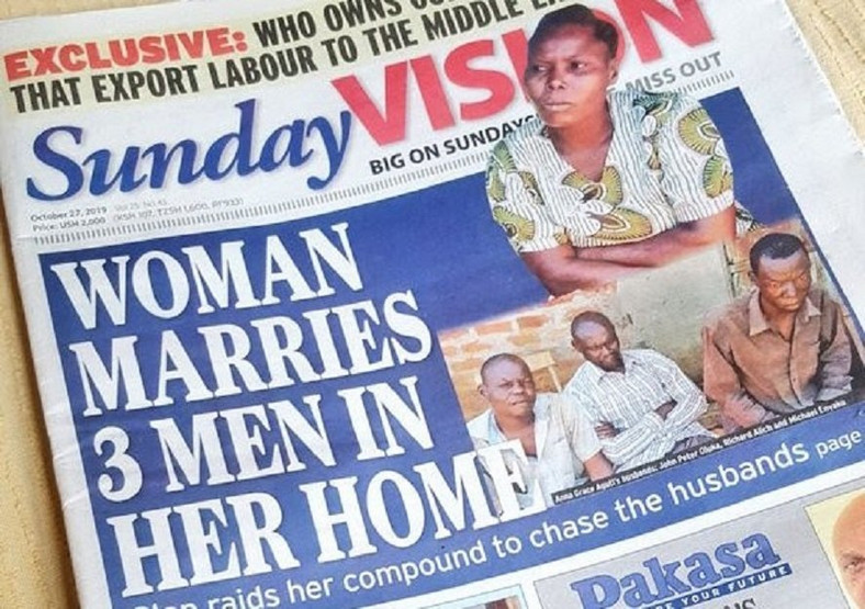 Pastor's daughter marries 3 men, keeps them in the same house and draws sex roster for them