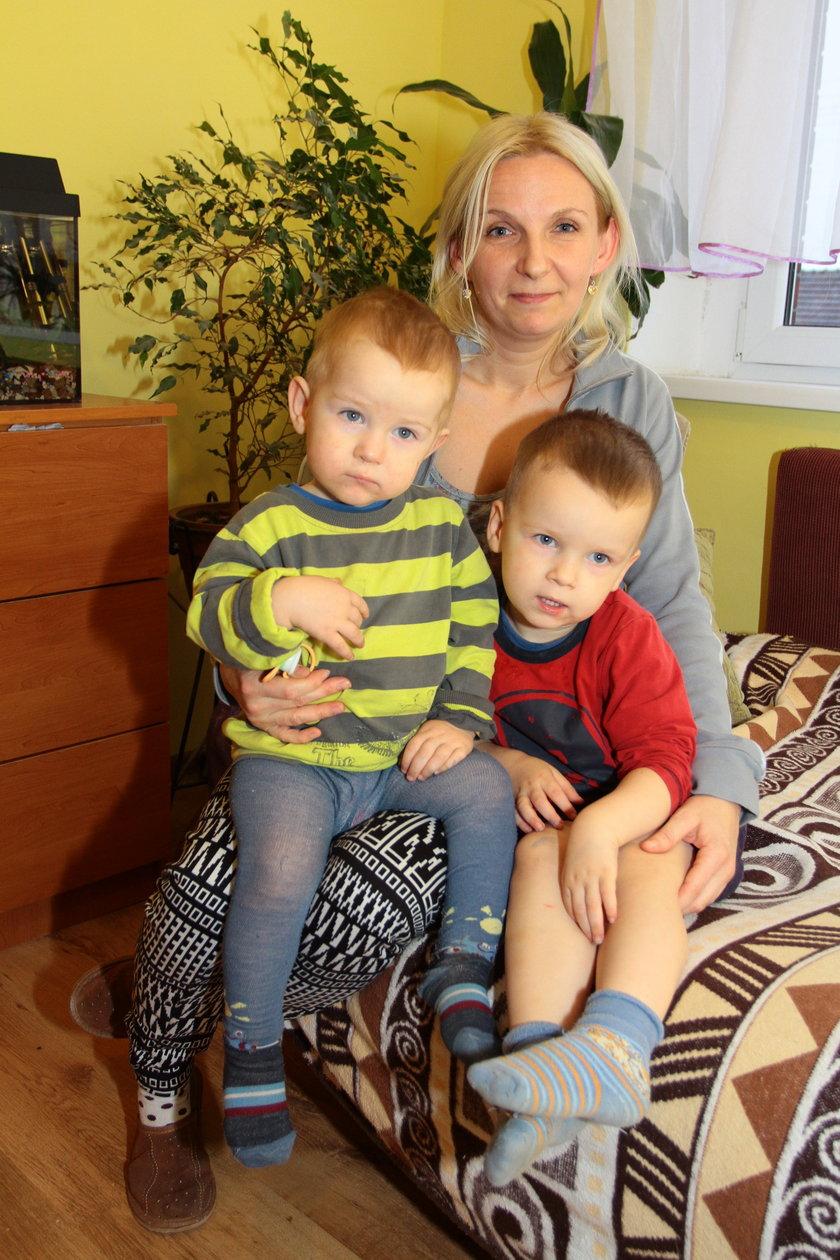 Małgorzata Waldun z najmłodszymi synami