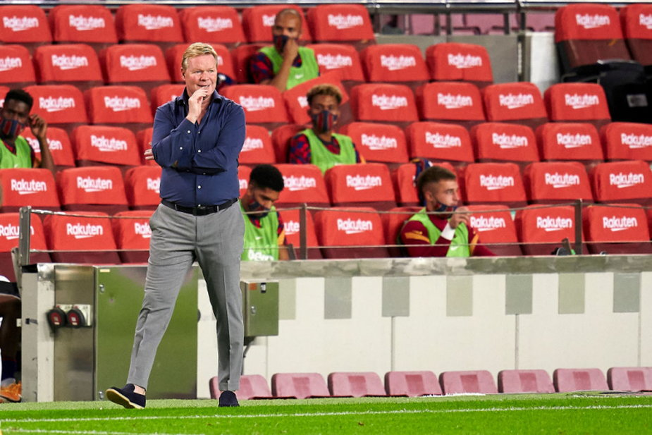 Ronald Koeman podczas meczu z Villarreal; fot. Getty Images
