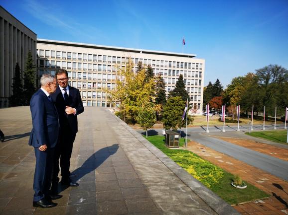 Aleksandar Vučić i Aleksander Van der Belen