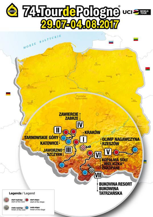 Trasa 74. Tour de Pologne