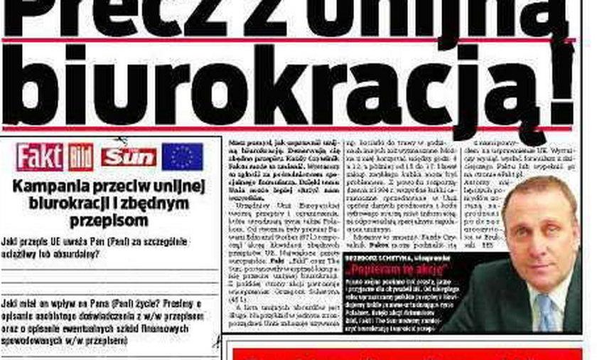 Precz z unijną biurokracją