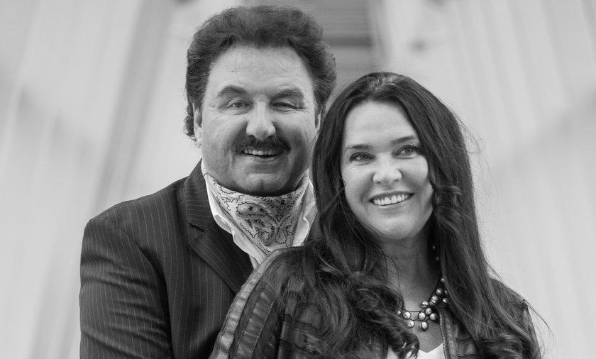 Krzysztof Krawczyk z żoną Ewą w 2014 r.