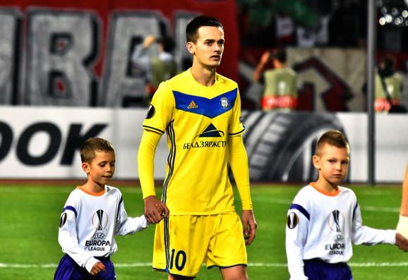 Mirko Ivanić je noseći dres BATE Borisova nastupao protiv Zvezde u Ligi Evrope prošle sezone
