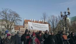 Protest w obronie Jasia Kapeli w Warszawie