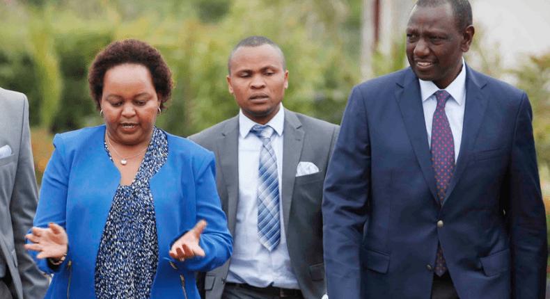 DP William Ruto and Kirinyaga Governor Anne Waiguru in Karen