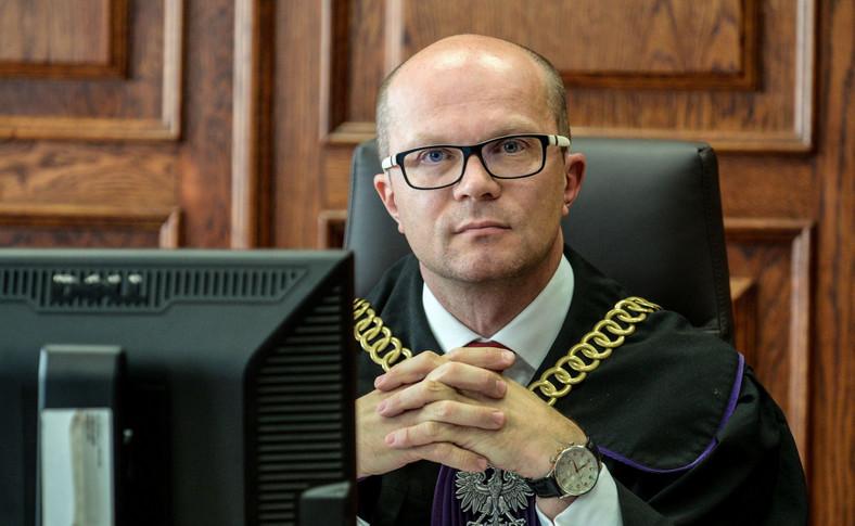 Sędzia Piotr Kluz podczas procesu odwoławczego Zygmunta M.