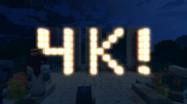 Minecraft 4K, właśnie po to kupujemy najpotężniejszą konsolę w dziejach...