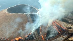 Góra Omuro - wygasły wulkan płonie co roku na wiosnę