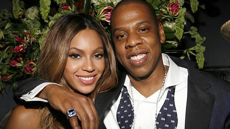 All loved up, Beyonce and rapper, Jay Z.