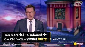 """""""Wiadomości"""" o 4. czerwca w 2013 i 2018 roku. Zupełnie inna narracja"""