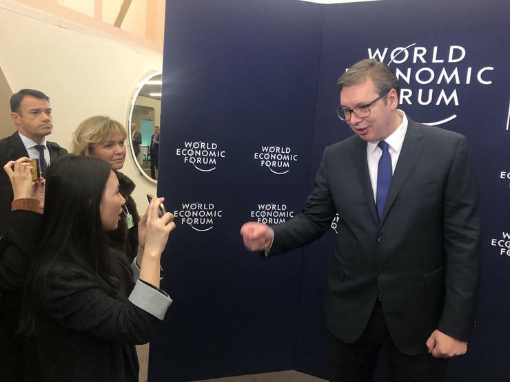 Aleksandar Vučić, Davos