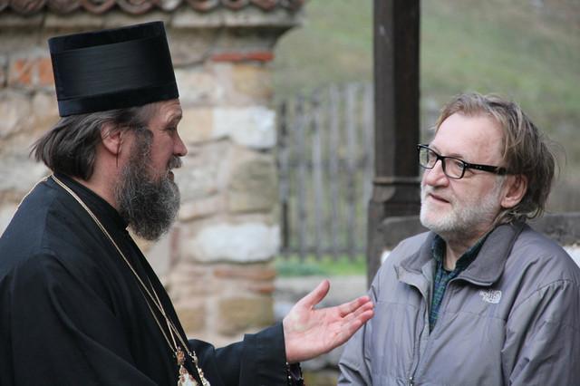 Velja u manastiru Poganovo, sa vladikom Niškim, dr Jovanom Purićem