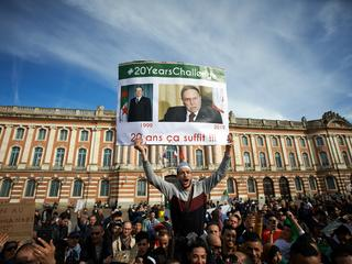 Touluose's Algerians Rally Against The Re-election Bid Of President Bouteflika