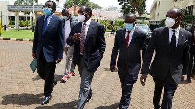 Kalonzo's one request to DP Ruto after presenting himself to DCI