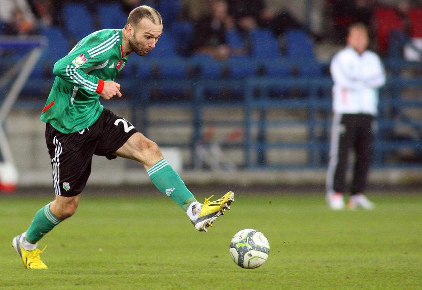 Danijel Ljuboja podczas meczu Wisła – Legia