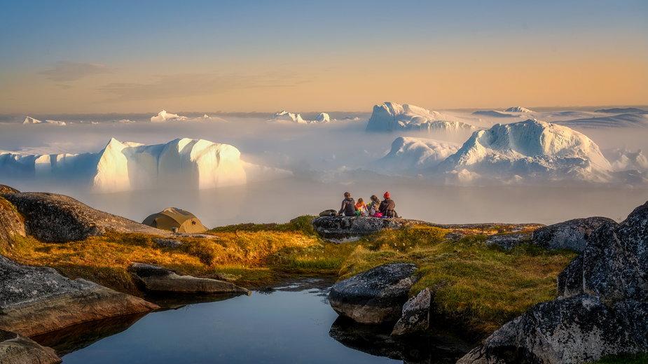 Lodowce Ilulissat i fiord Disco Bay, Grenlandia