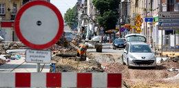Chaos komunikacyjny w centrum Katowic