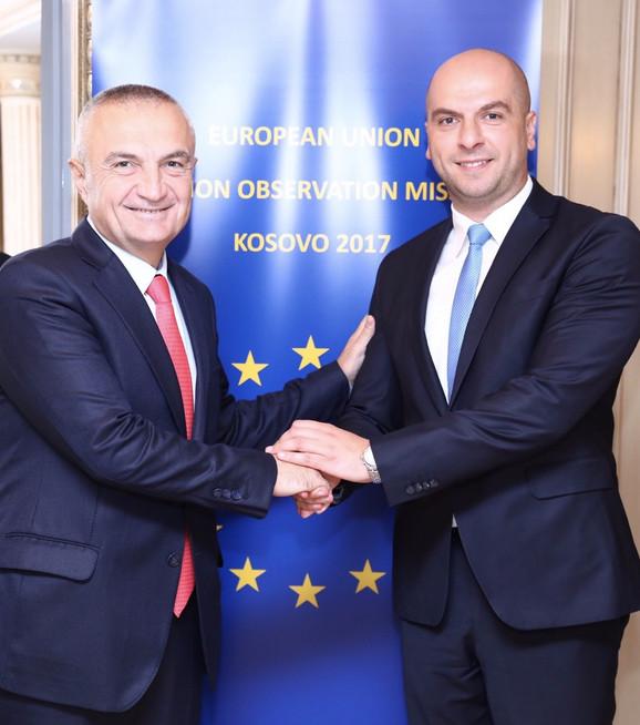 Sastanak Slavka Simića i predsednika Albanije Iljira Mete