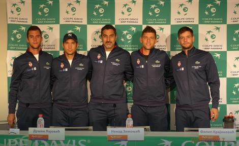 Laslo Đere, Dušan Lajović, Nenad Zimonjić, Filip Krajinović i Miljan Zekić