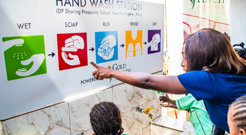 NGO launches hand-wash station at IDP camp